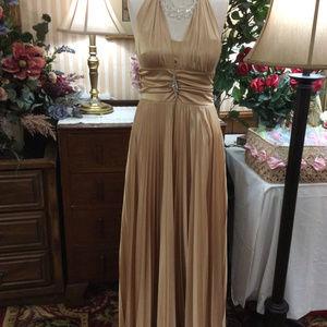 Torch Singer Marylin Halter Evening Gown Dress